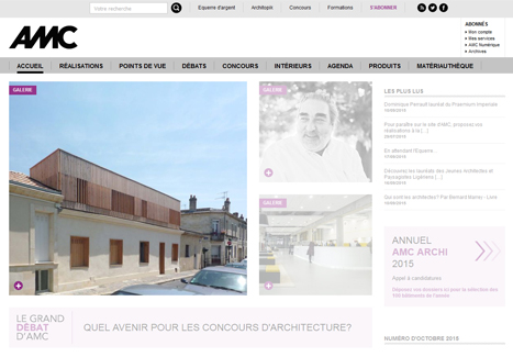 14.10.2015 – Our single-story dwelliing extension in Bordeaux is now published on the AMC web site!