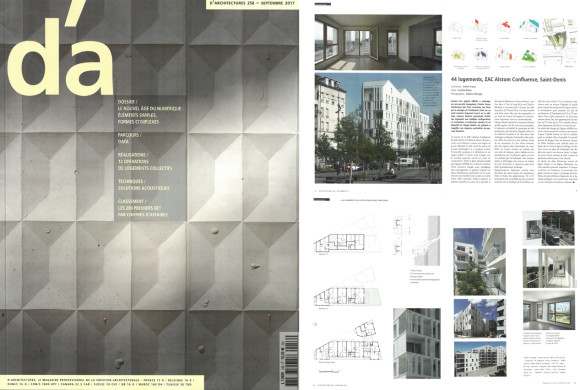 08.09.2017 – Neaucite Social housing – Saint Denis published in D'A Magazine