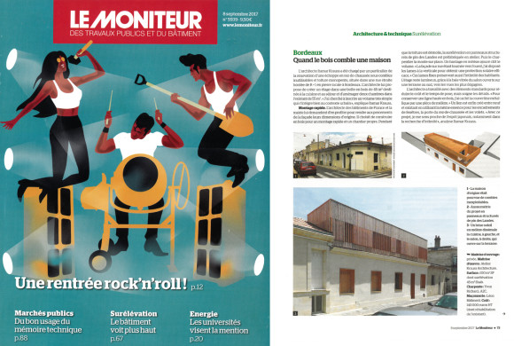 10.09.2017 – Our single-story dwelliing extension in Bordeaux is now published in this week Moniteur's issue