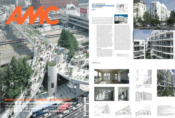 Our social housing Neaucite Saint Denis published in the AMC Magazine N°263