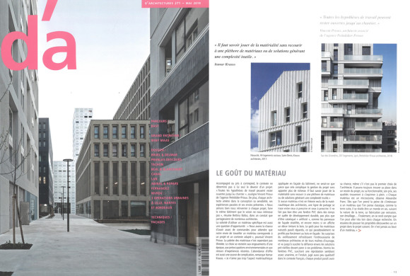 Itamar Krauss interviewed for the Dossier Façade – D'A 271 – mai 2019